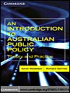 An Introduction to Australian Public Policy (eBook): Theory and Practice